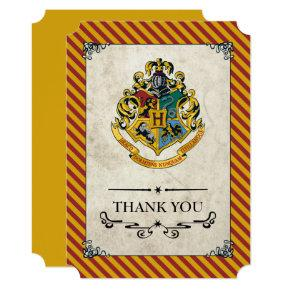 Harry Potter | Hogwarts Birthday Thank You Card