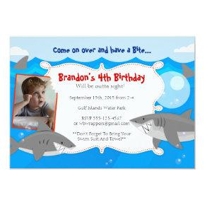 HAVE A BITE - Shark Themed Birthday Invitations