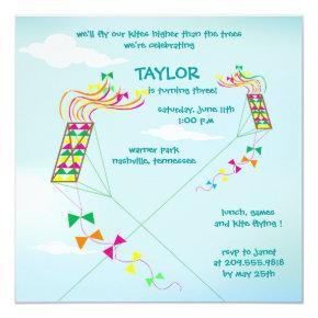Higher up - kites birthday -3 invitation