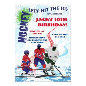 Hockey Sports Birthday Party