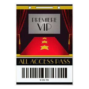 Hollywood Premiere VIP Birthday Party Invitation