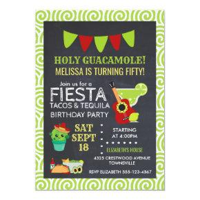Holy Guacamole Tacos & Tequila Birthday Party Invi Invitation
