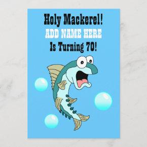 Holy Mackerel, Someone Is Turning 70 Funny Fish Invitation