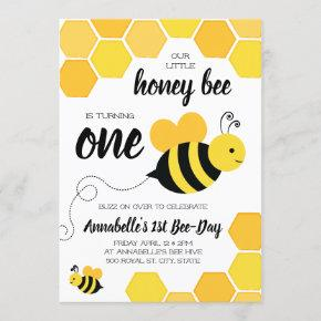 bee birthday invitations candied clouds