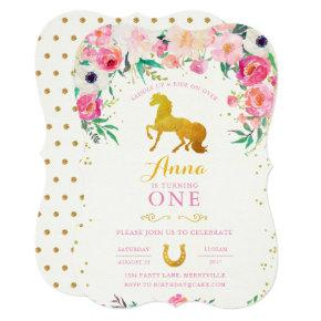 Horse Cowgirl Birthday Invitation