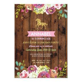 Horse Riding Party Invite Pony Wood Invitations