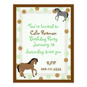 Horses Birthday Invitation