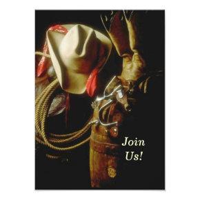 Hosting Western Themed Milestone Birthday Party Invitation