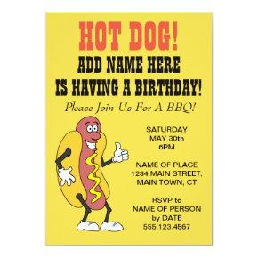 Hot Dog Someone Having A Birthday BBQ Invitation