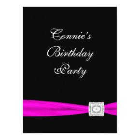 70th birthday invitations page 12 candied clouds hot pink fuchsia classy birthday party invitation filmwisefo
