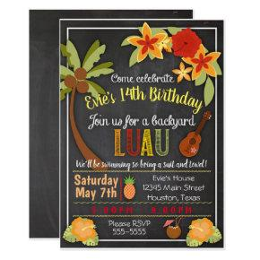 Hula Luau Party Invitation