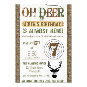 Hunting Birthday Invitation