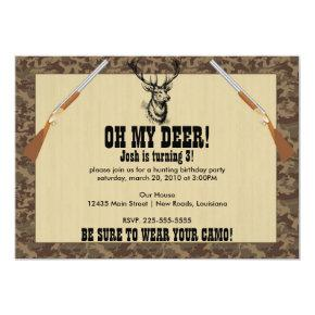 Hunting Birthday Invitation