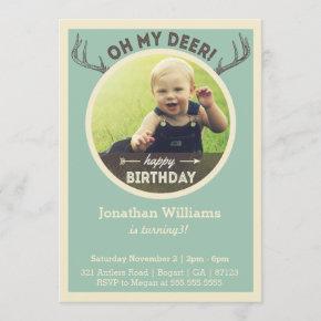 Hunting Birthday Invitation for Baby or Children