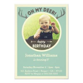 Hunting Birthday Invitations for Baby or Children