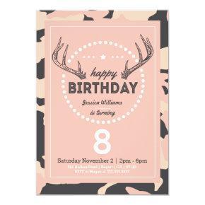 Hunting Birthday Invitation for Lil' Hunters