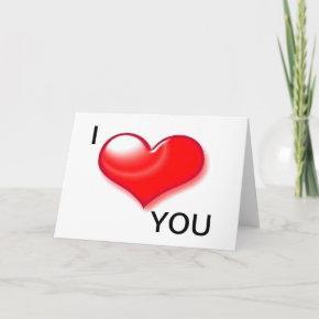 I Love You Heart Valentine Day