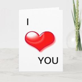 I Love You Heart Valentine Day Greeting