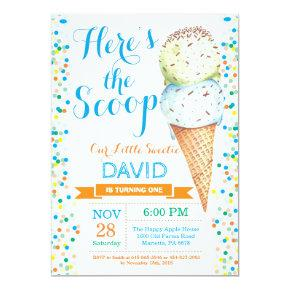 Ice Cream Birthday Invitation Summer