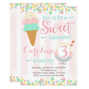 Ice Cream Popsicle Birthday Party Invitation