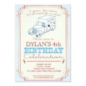 Ice Cream Truck Party Invitations