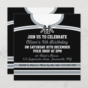 Ice Hockey Jersey Themed Party Invites Template