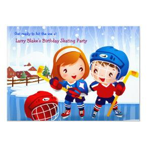 Ice Hockey Tots Invitation