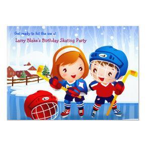 Ice Hockey Tots Invitations