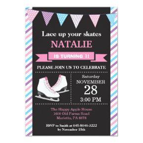 Ice Skating Birthday Invitation 1st Birthday Party