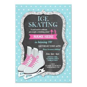 Ice Skating Birthday Party Chalk Skate Invite