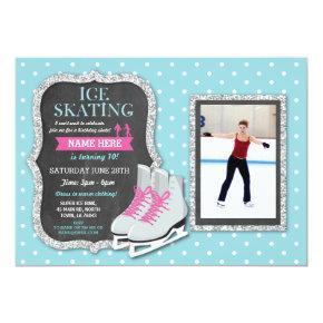 Ice Skating Birthday Party Photo Skate Invite