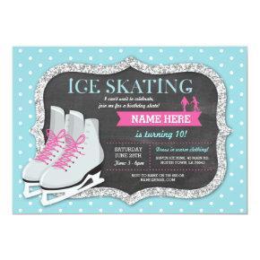 Ice Skating Birthday Party Rink Skate Invite