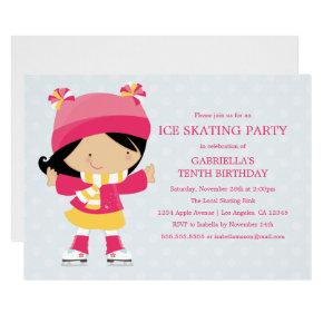 Ice Skating Party | Birthday Party Invitation