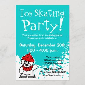 Ice skating party  | Custom invites