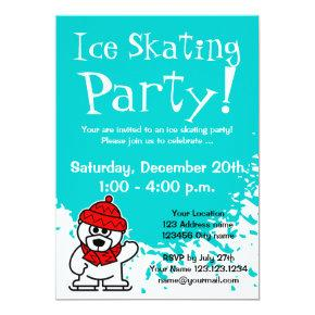 Ice skating party invitations | Custom invites
