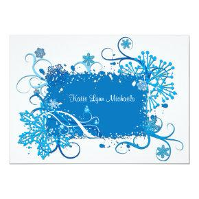 Icy Blue Bridal Shower Invitations