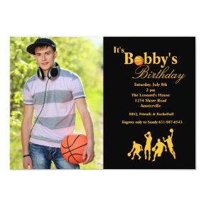 In the Name Photo Basketball Invitation