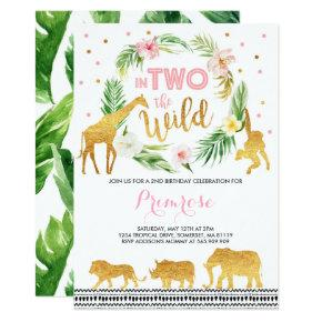 In Two The Wild Birthday Invitations Jungle Animals