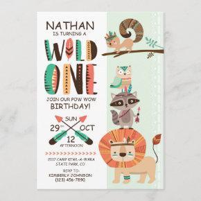 Indian Native American Pow Wow Birthday Invitation