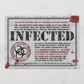 Infected Notice Zombie Birthday Party