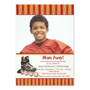 Inline Skate Photo Invitation