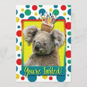 Invitation Cupcake - Koala