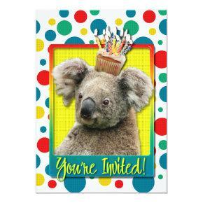 Invitations Cupcake - Koala