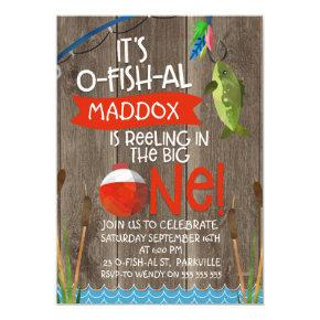 Its O-fish-al 1st Birthday Invitation For Boy