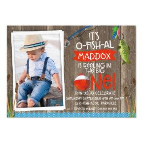 Its O-fish-al Photo1st Birthday Invitation For Boy
