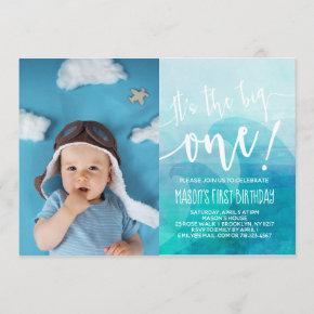 It's the Big One Wave First Birthday Invitation