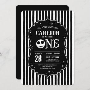 Jack Skellington First Birthday - ONE Invitation