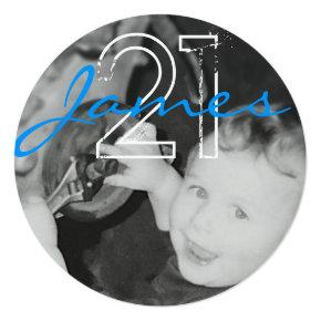James 21st (Circle Range) Invitation