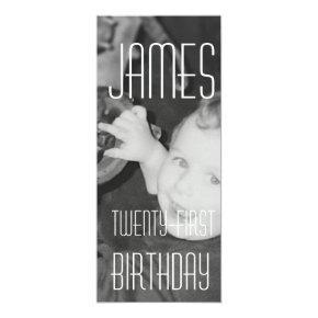 James Twenty - First (Vertical) Invitation