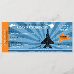 Jet Plane Birthday  (Blue Orange)
